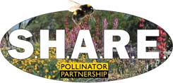 The Pollinator Partnership (P2) advocates S.H.A.R.E. (simply have areas reserved for the environment) approach to the planet. Every human interface with a landscape can simply have areas reserved for the environment. We believe that pollinators show the way to sharing. When you plant for pollinators, plants, pollinators, people, and the environment all benefit. From schools to farms, to churches, to corporation everyone is getting involved and registering their S.H.A.R.E. landscape. Get involved today!