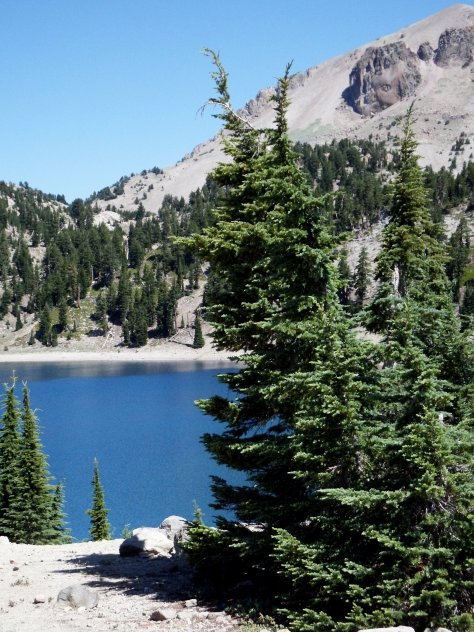 """Lake Helen and the """"Belly Button"""" rock; © 2015, Mary K. Hanson.  All rights reserved. This is where I said goodbye to my brother."""